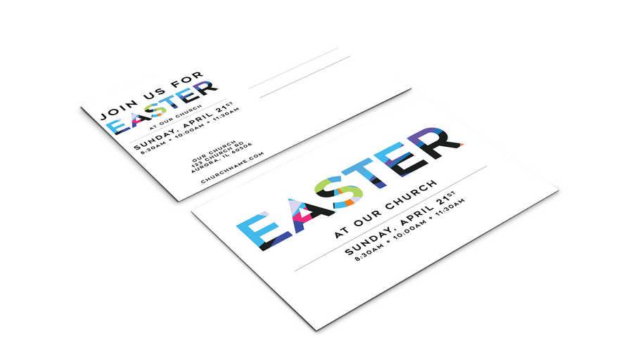 Bright Easter Invitation Postcard