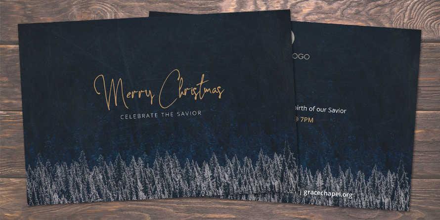 Christmas Service Postcard