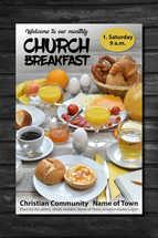 flyer for church breakfast