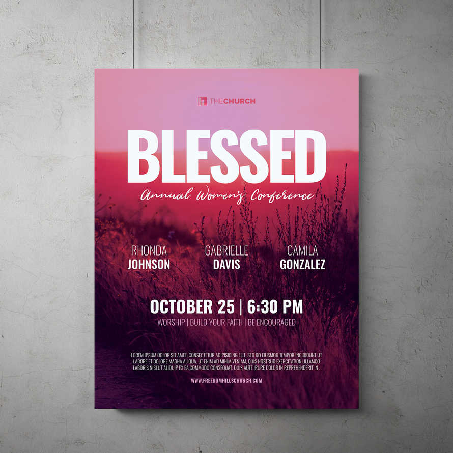 Blessed Women's Conference Flyer Template