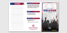 Welcome Worship 14x8.5 Trifold Photoshop Template