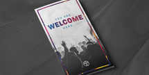 Welcome Worship Trifold Illustrator Template
