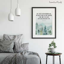 But I Trust In Your Unfailing Love, Bible Verse Prints, Psalm 13 5, Christian Wall art,