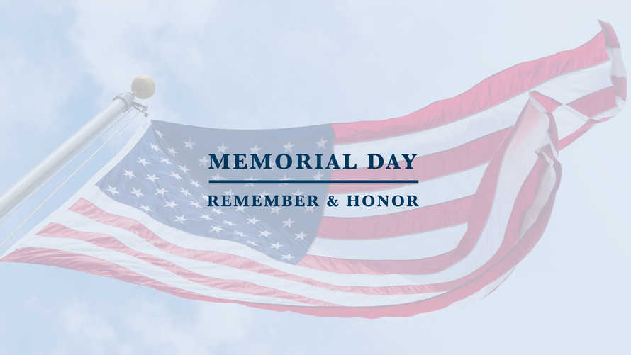 Memorial Day Remember and Honor Blue Sky