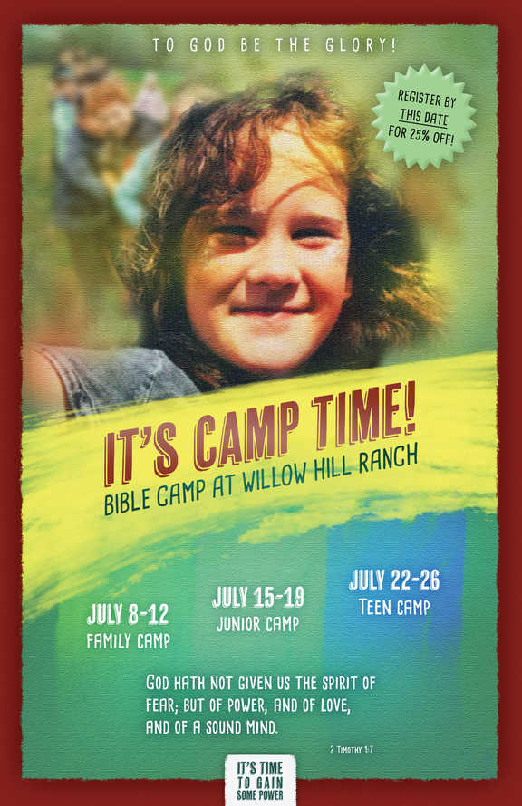 Bible Camp Flyer