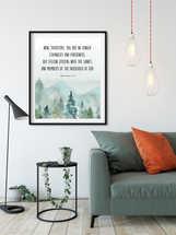 Ephesians 2:19, You are no longer strangers, Mountains Wall Print, Bible Verse Print
