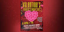 Valentine's Parents Night Out Flyer