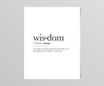 Wisdom Definition Digital Print