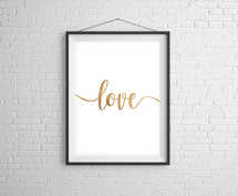 Love Gold Digital Print