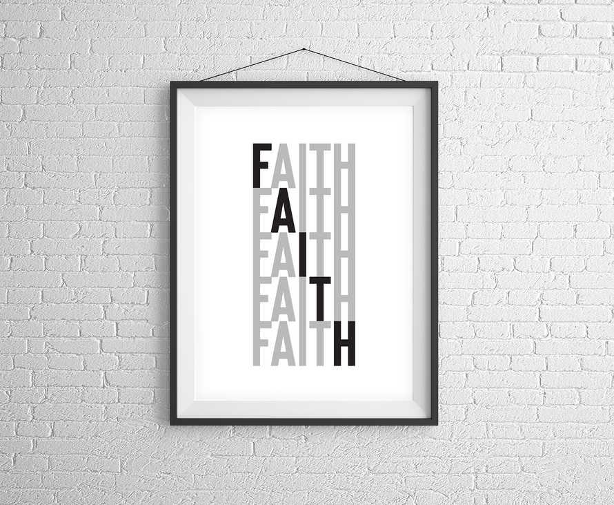 Faith Stacked Digital Print