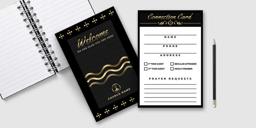 Elegant Black Gold Visitor Card