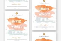 Unwind Women's Retreat Flyer Template