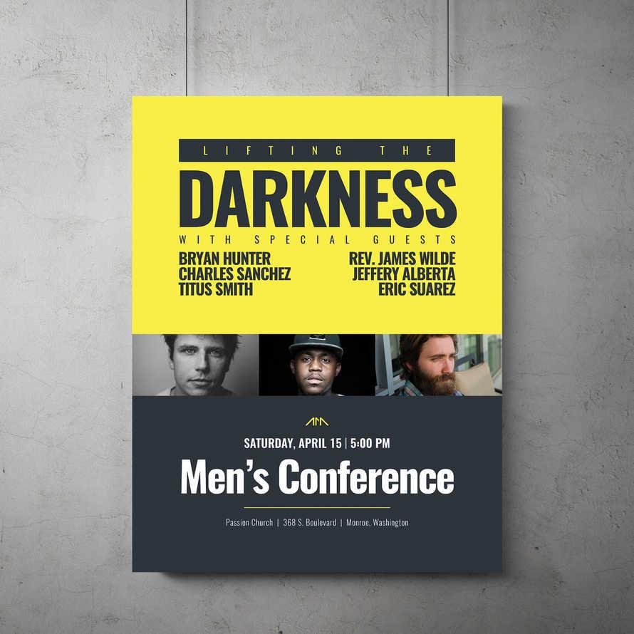 Men's Event Flyer Template