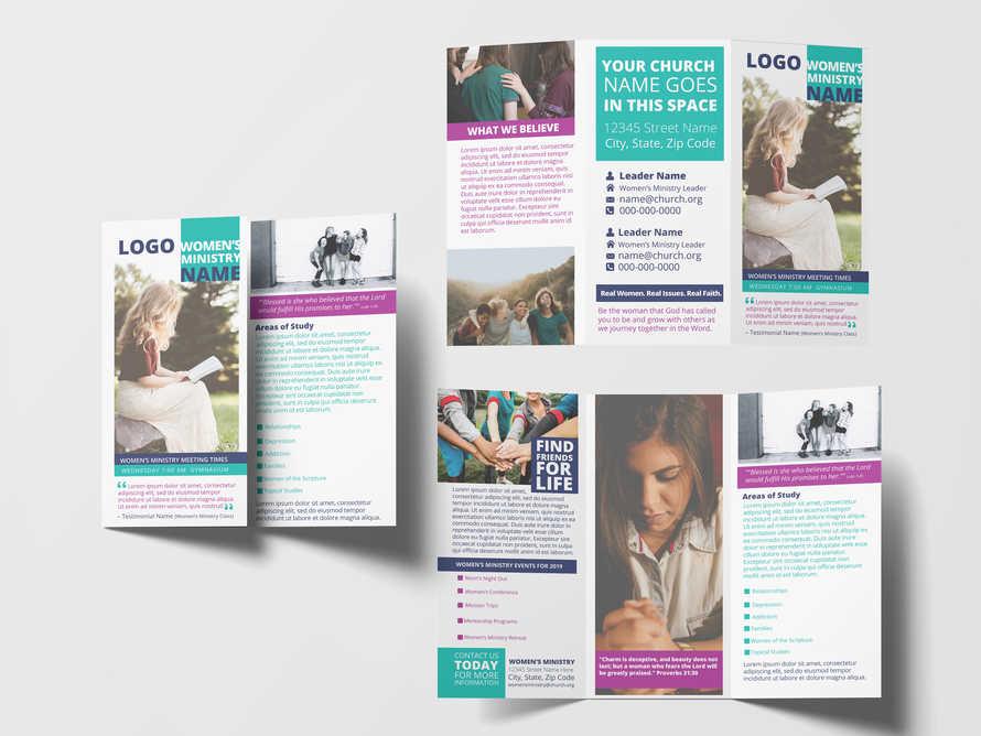 Women's Ministry Brochure Mockup Template