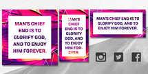 Magenta Paint social media quote set