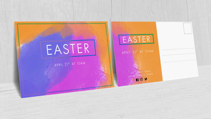 Easter Invitation Postcard 5x7