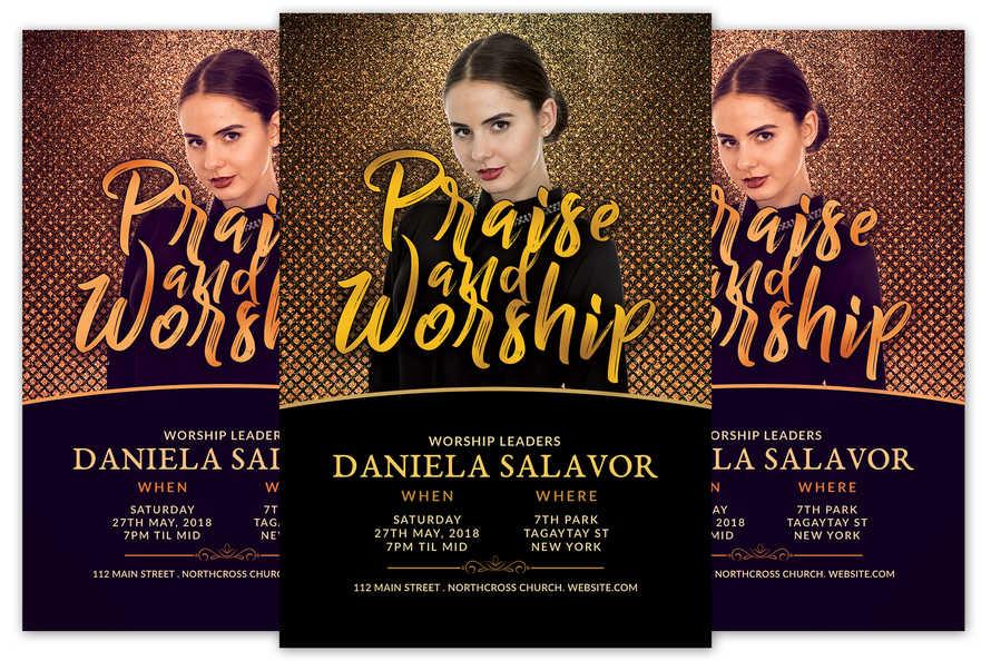 Praise and Worship Church Flyer