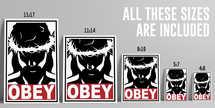Obey Jesus poster print