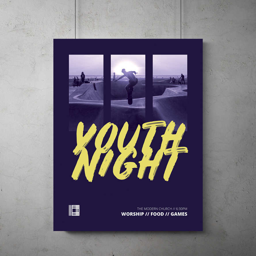Youth Night Flyer Template