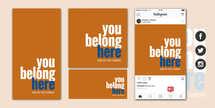 You Belong Here Social Graphic Set