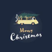 Merry Christmas van