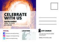 Christ is Risen - Postcard