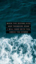 When the ocean rise and thunders roar