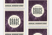 Amazing Grace Worship Flyer Template