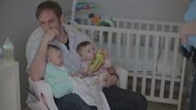 overwhelmed family of triplets