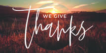 We Give Thanks Slide