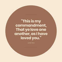 This is My Commandment Social Graphics