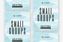 Small Groups Flyer Template