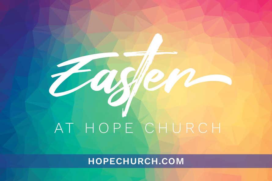 Easter at Hope Church Postcard