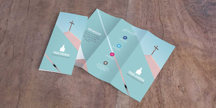 Stripe Church Trifold Letter Brochure