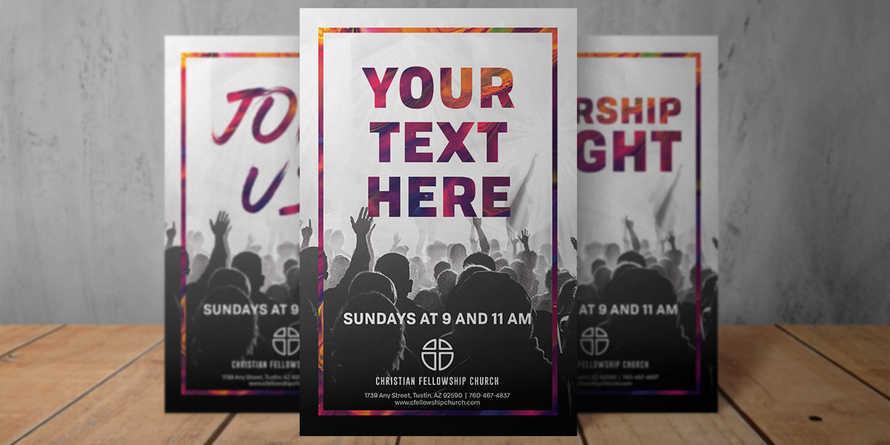 Welcome Worship 5.5x8.5 flyer