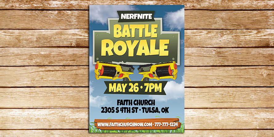 Nerfnite Nerf War flyer