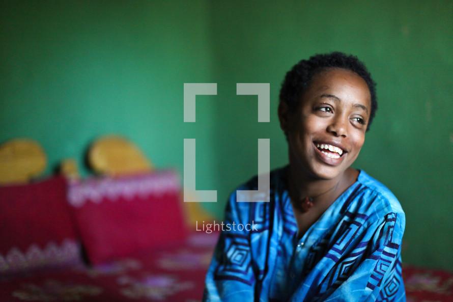 smiling Ethiopian woman