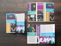 Church Ministry Life Group Event Brochure Design