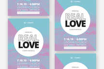 Real Love Flyer Template