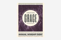 Amazing Grace Worship Flyer Template