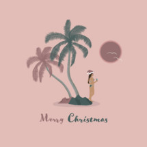 Merry Christmas on a tropical island