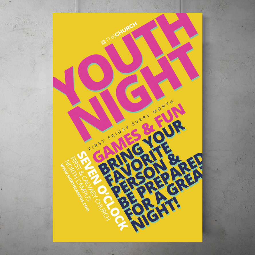 Modern Youth Night Flyer Template
