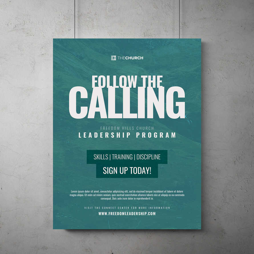 Follow The Calling Flyer Template
