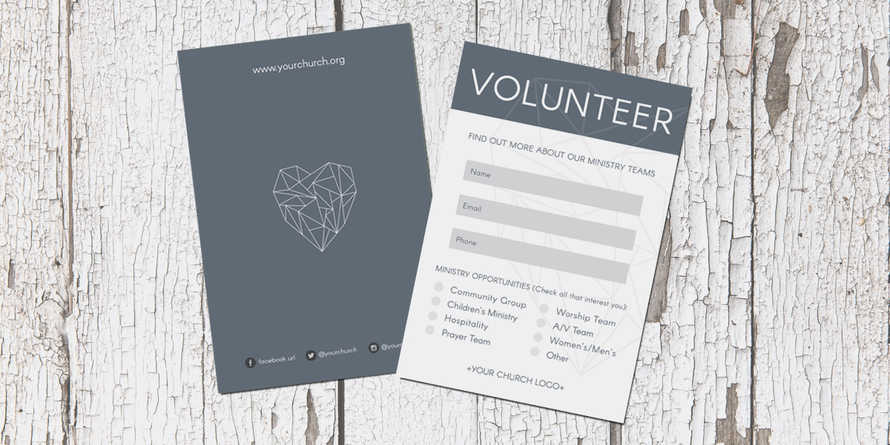 Geometric Volunteer Connection Card