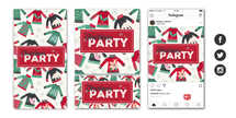 Christmas Party Social Graphic Set