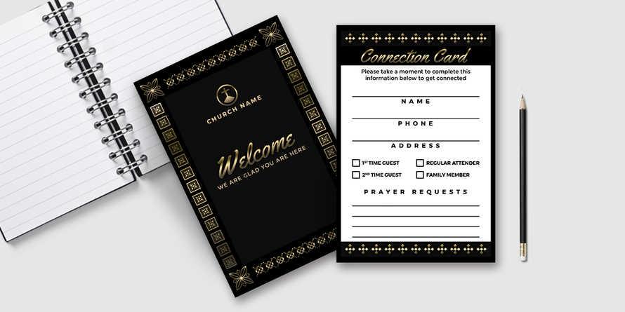 Elegant Black Gold Connection Card