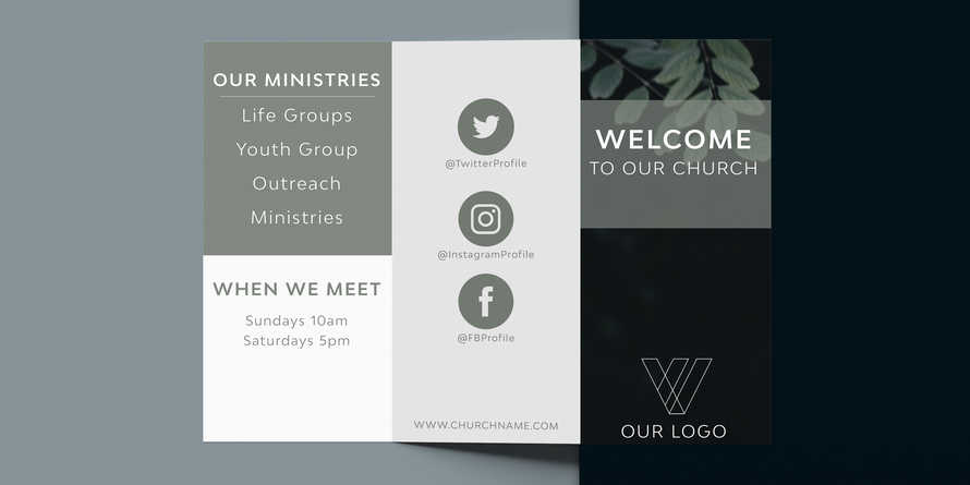 Natural Brochure / Church information Trifold Brochure