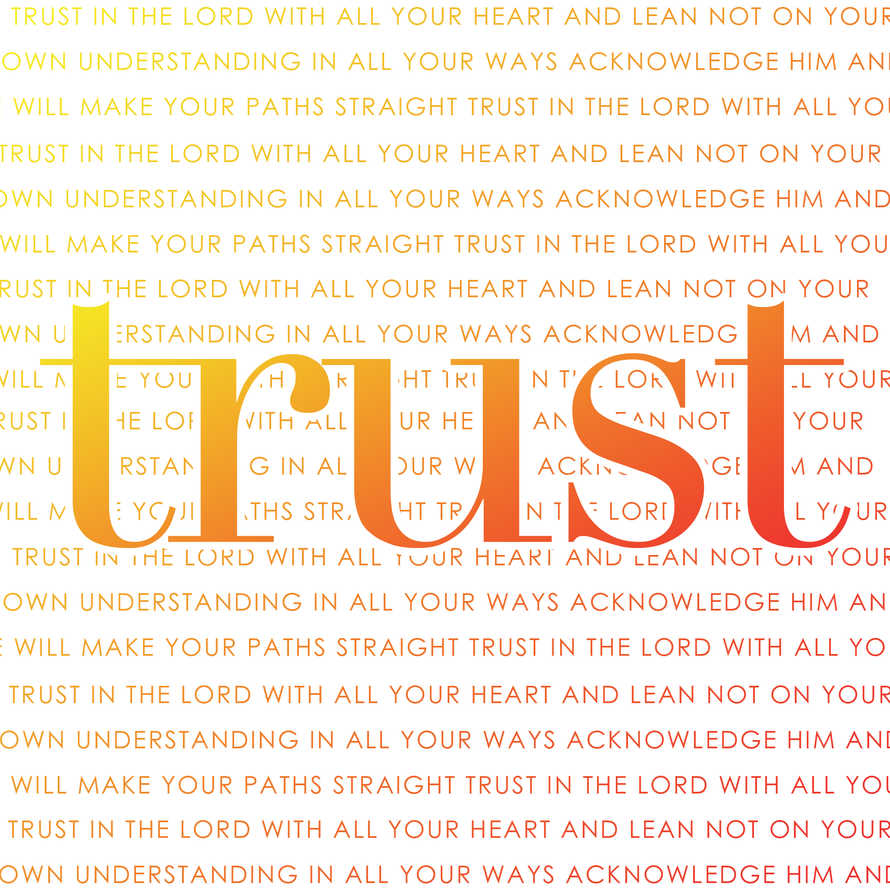 Trust the Lord Social Graphic Set