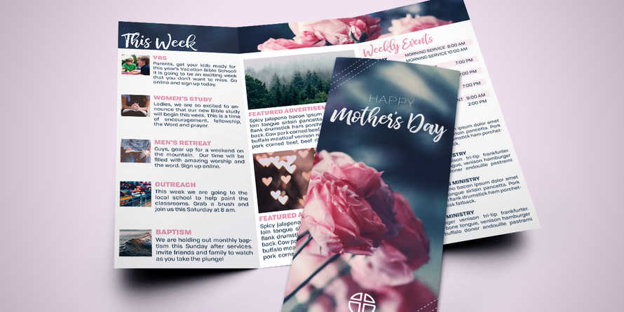 Mother's Day Rose trifold