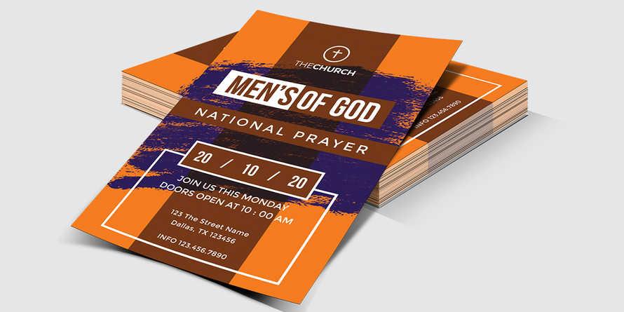 Men's Of God Church Flyer